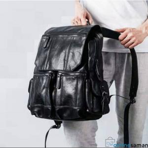 Black PU leather bag