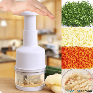 Hand pressure vegetable cutter