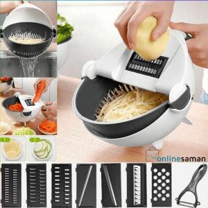 Wet basket vegetable cutter