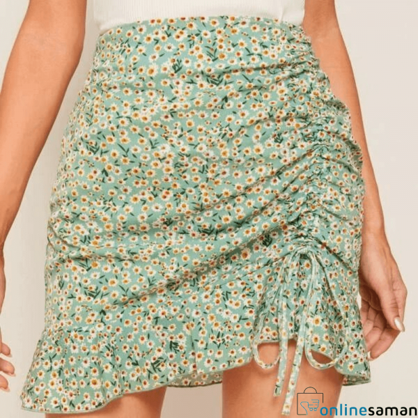 Women Floral Skirt