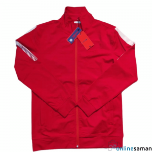 Red Colour Polyester Casual Jacket