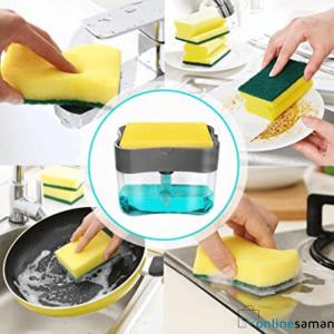 2-in-1 Sponge Rack Soap Dispener