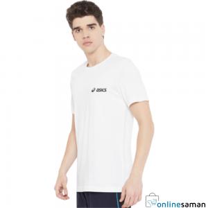 Asics Plain White Round Neck T-Shirt