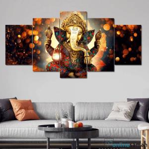 Ganesh Canvas Wall Decor