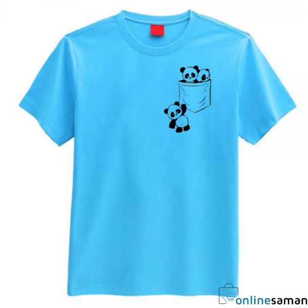 women panda printed T-shirt