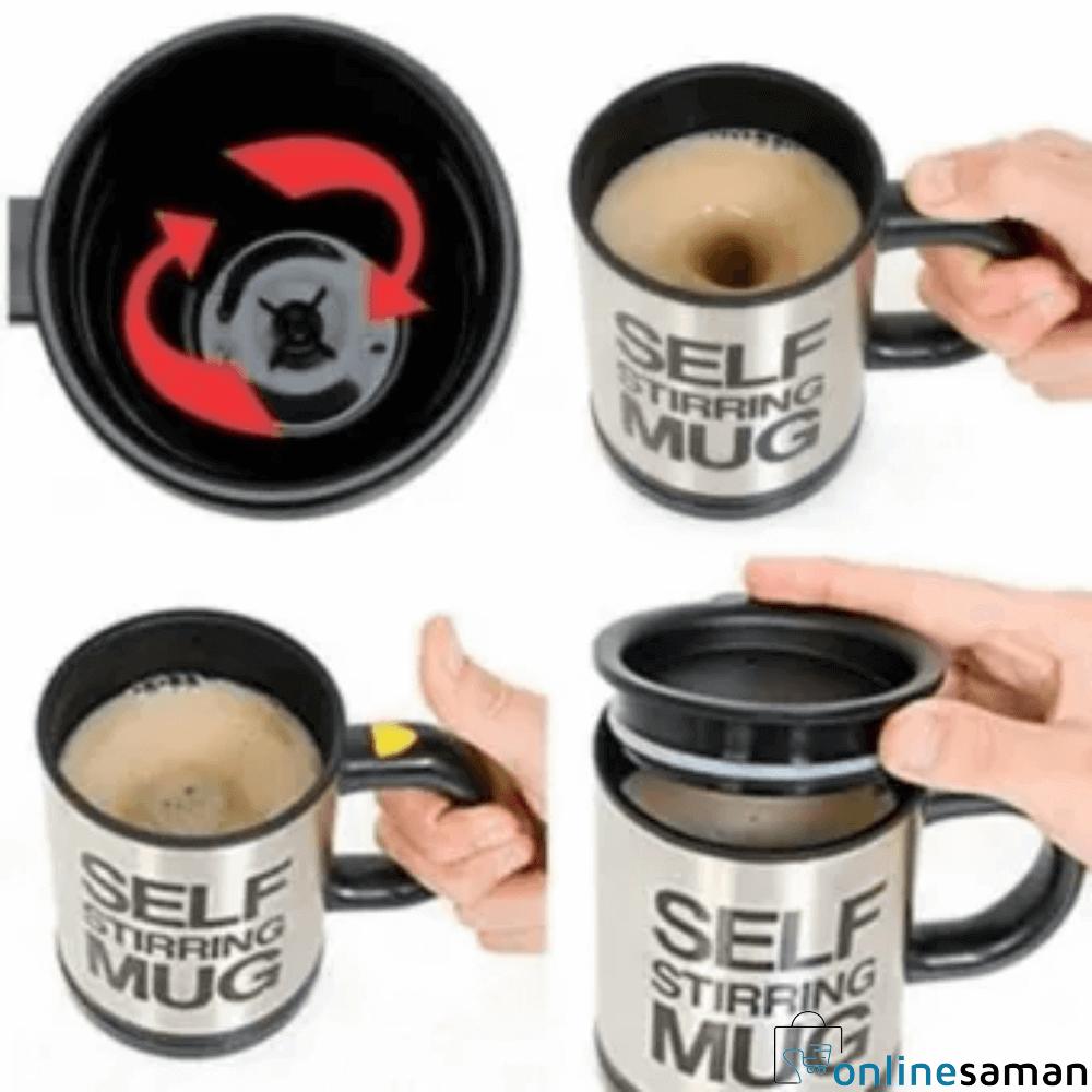 Stainless Steel Automatic Self Stirring Mug