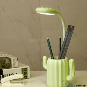LED Cactus Desk Lamp Table Light with Pen Holder Creative night light Students USB Charging Touch Foldable cute mini Eye protect
